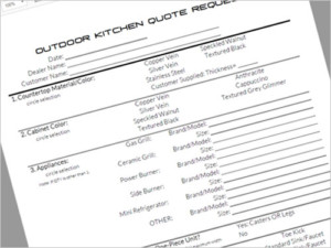 Outdoor Kitchen Quote Request Form