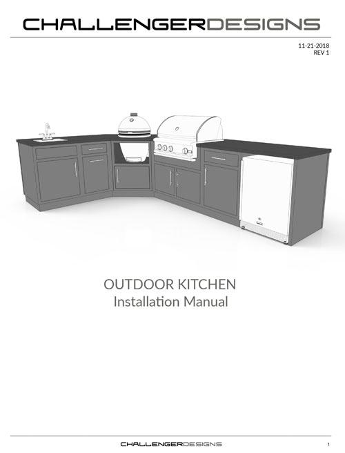 CHALLENGER DESIGNS Outdoor Kitchen Installation Manual
